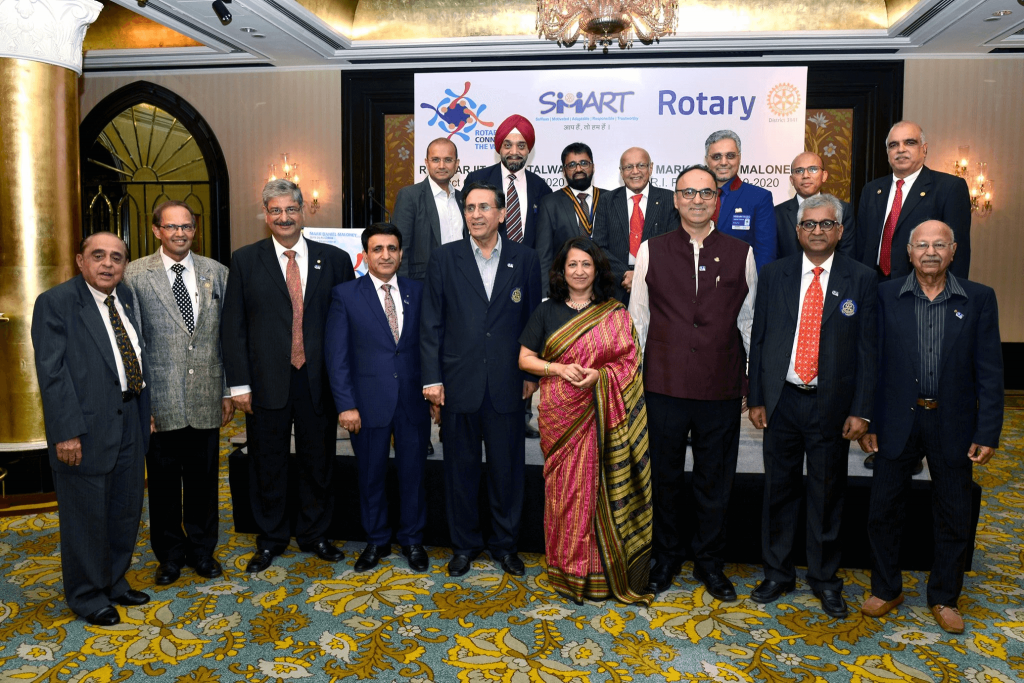 at the Installation Event of Rotary Club of Bombay Mid-Town at the Ball Room of The Taj Mahal Hotel, Mumbai