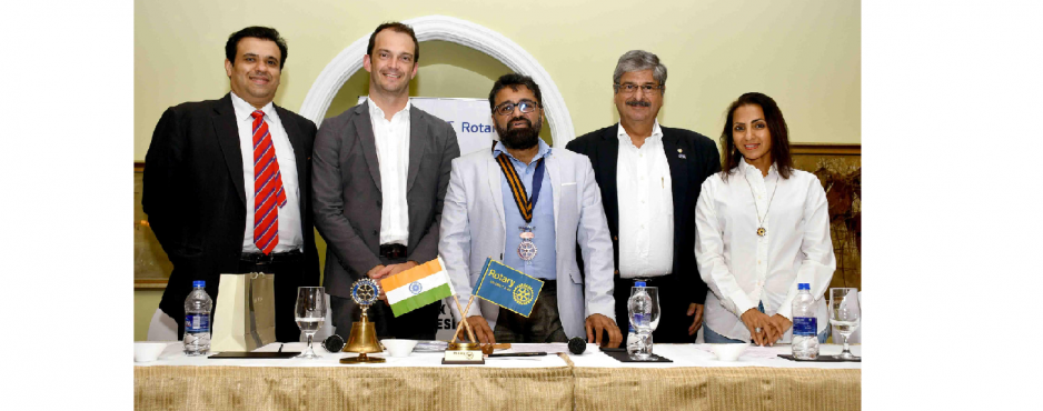 Mr. Chris Ellinger was the Speaker in the meeting of Rotary Club of Bombay Mid-Town on 21st August 2019