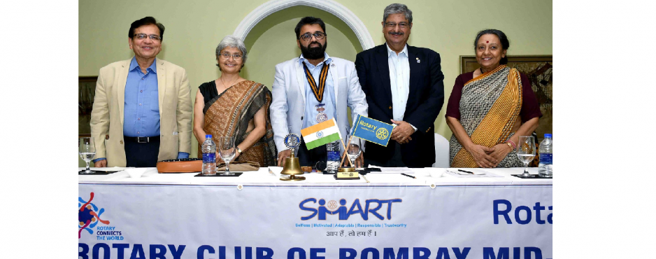Justice Roshan Dalvi (Retd.), former judge of Bombay High Court, was the Speaker in Rotary Club of Bombay Mid-Town meeting on 11th Sep 2019